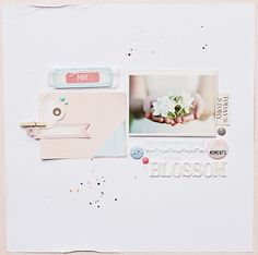 ** Chic Tags- delightful paper tag **: blossom - layout