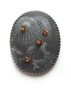 Bettina Speckner, brooch...use with textured copper