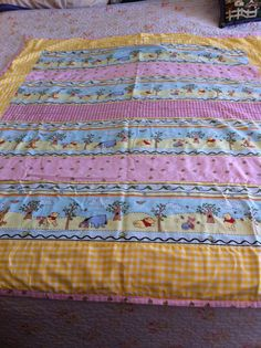 """back of """"A quilt for a Pooh lover"""""""