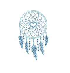 Dream catcher cross stitch Heart theme Dreamcatcher cross stitch Blue feather Modern Cross Stitch Pattern CROSS STITCH PATTERN (Intermediate Level / INTERMEDIATE LEVEL) (Patterns are in both Single page and multi-page enlarged format for easy reading) Instant download after buying.