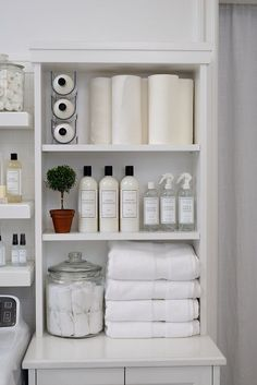 Who says wine holders are just for wining and dining? The Laundress uses the stackable Fridge Binz Wine Holder to efficiently and vertically hold extra bottles of The Laundress Signature Detergent!