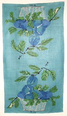 Blue Peaches from my Vera Neumann dishtowel collection.