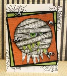 This person is WAY too artistic.. A halloween card? It's one thing to copy this, but to think of it? What a talented person.