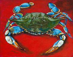 Louisiana blue crab.