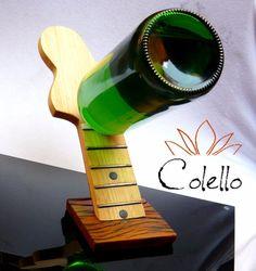 porta vinho adega de mesa guitarra fender stratocaster