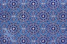 Gorgeous geometric Islamic pattern. & a sublime blue.  This is from Pakistan.