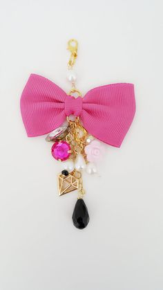 Bow planner charm Bow charm Planner charm by PoshPiecesbyMelissa