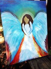 One Of A Kind Abstract Spiritual Angel Canvas Painting Gift Wall Art Decor
