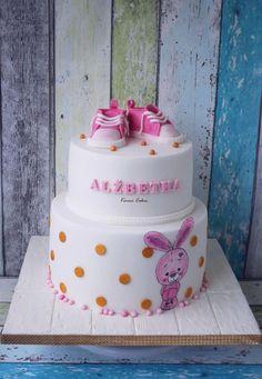 Bunny - Christening Cake by Kmeci Cakes
