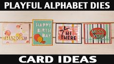 Foam Adhesive, Happy Birth, Stamping, Card Ideas, Alphabet, Lettering, Play, Paper, Youtube