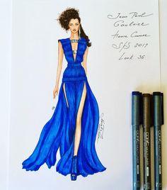 "269 Likes, 5 Comments - NataliaZ.Liu (@nataliazorinliu) on Instagram: ""#fashion #fashionillustration #eliesaab #luxury #designer #2017 #paris #art #glamour #collection…"""