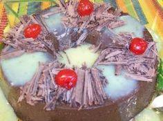 Receita de Pudim de Creme de Chocolate - pudim pequena e untada, despeje a mistura e leve ao forno pré-aquecido a 250 graus, em banho-maria por 50 minutos coberto com papel alumínio. ...
