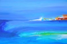 Landscape by Montreal painter Beatrice Dauge Quebec, Waves, Landscape, Abstract, Montreal, Paintings, Outdoor, Artists, Inspiration