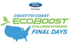 WATCH AND ENTER FOR YOUR CHANCE TO WIN DURING THE FORD ECOBOOST CHALLENGE GIVEAWAY!