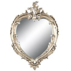 Silver heart shaped mirror/Stunning ornate mirror/Personalized wedding sign/Elegant house decor/Wedding gift