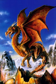 Image detail for -The Fantasy Dragon Art Pics by Bob EGGLETON ( A page from DRAGON ...
