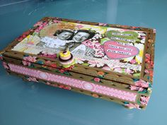 by Rita Chiappetta Decorative cigar box with Anna Griffin Papers