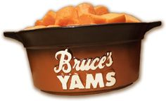 Southern Style Favorite Yams Ingredients: 1 (29 ounce) can Bruce's cut yams, drained and mashed 1/4 cup brown sugar 1/2 teaspoon salt 1 teaspoon cinnamon 1/2 teaspoon nutmeg 1 tablespoon melted butter 1/4 cup milk