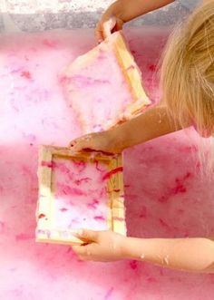 """paper making - the kids have made paper on their own at the kitchen table...but here is a nice """"how to"""" in case we want to do it properly ;)"""