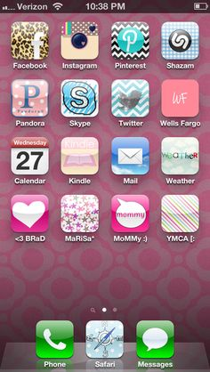 Create your own iPhone icons with the Cocoppa app! ... Hope it works for Droid too