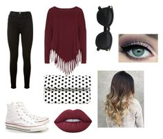"""""""Street look"""" by arfinch05 ❤ liked on Polyvore featuring Frame Denim, Boris, Converse, La Regale and Lime Crime"""