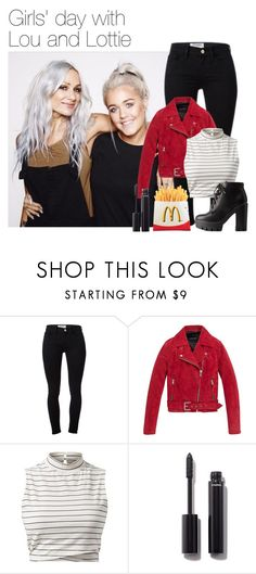 """""""Girls' day with Lou Teasdale and Lottie Tomlinson"""" by werehazza ❤ liked on Polyvore featuring Frame, Andrew Marc, Chanel and Charlotte Russe"""