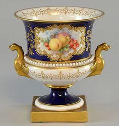 Royal Worcester Porcelain Urn, Hawkins.