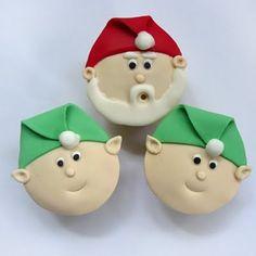Santa and Elf cupcakes