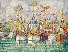 Blessing of the Tuna Fleet at Groix 1923 Paul Signac | Oil Painting Reproduction | 1st-Art-Gallery.com