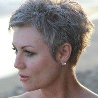 pixie cut for grey hair