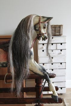 Unicorn Rocking Horse, Wood Rocking Horse, Antique Rocking Horse, Wooden Horse, Vintage Horse, Carosel Horse, Carrousel, Equestrian Decor, Painted Pony
