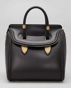 Alexander McQueen - Heroine Medium Satchel Bag, Black