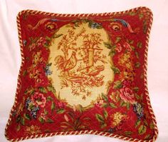 Country French Cottage Rooster Pillow by TsEclecticTreasures, $54.99