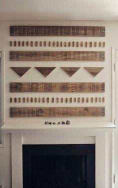 I love this wood mantel art found via Enhabiten on pinterest