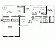 Small 4 Bedroom NEEDS SOME MODIFICATIONS ELIMINATE BEDROOM 4 AND LIVING  ROOMS