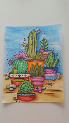 Trendy Painting Ideas On Canvas Easy Acrylic Cactus Ideas – Trend Art ideas on World Cactus Drawing, Cactus Painting, Cactus Art, Cactus Photography, Mini Canvas Art, Mexican Folk Art, Mandala Art, Watercolor Paintings, Art Projects