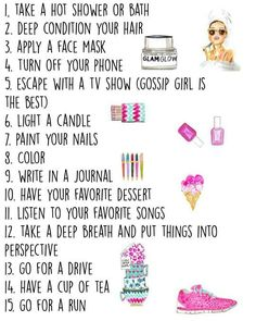 15 things to do when you're stressed. everything on this list except for six and ten helped me!