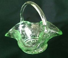 Mini glass basket