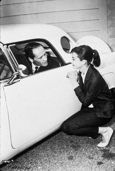 Audrey Hepburn, Mel Ferrer and their Thunderbird