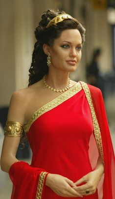 "Angelina Jolie in ""Alexander"". An Athenian woman was not permitted to interact with any male guests in the house, and she had to retire to her women's quarters (gynaeceum) to be kept separate from the men. The only woman allowed some freedom was his mistress who accompanied the married man when he attended social functions outside the house."
