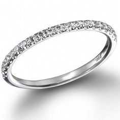 just a thin White Diamond Pavé Band please and thank you