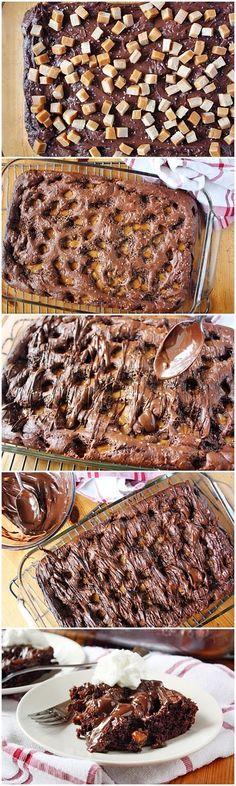Salted Caramel-Chocolate Dump Cake - firstyum