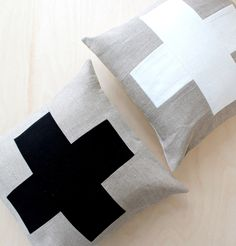 Excited to share the latest addition to my #etsy shop: SALE Swiss Cross Pillow Cover, Decorative Pillow Cover, Linen Pillow, Patchwork Pillow, Colourblock Pillow, Eco Friendly, Sustainable
