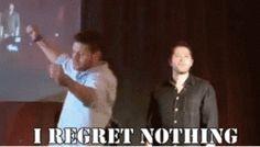 Jensen's dancing.  Both as the dancing OF Jensen, and Jensen IS dancing.