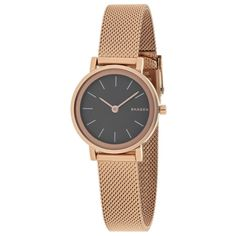 Women's Skagen Women's Hald (385 SAR) ❤ liked on Polyvore featuring jewelry, watches, jewelry & watches, pink, women's watches, quartz movement watches, stainless steel jewelry, water resistant watches, stainless steel watches and stainless steel jewellery
