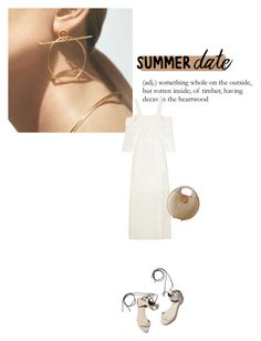 """""""Untitled #361"""" by duoduo800800 ❤ liked on Polyvore featuring Hermès, self-portrait, 3.1 Phillip Lim, beach and summerdate"""