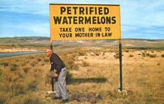 Petrified watermelons.
