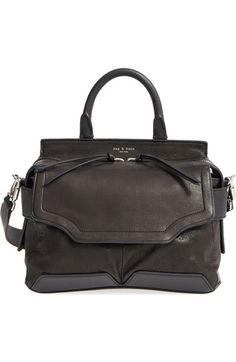 RAG & BONE 'Small Pilot' Lambskin Leather Satchel. #ragbone #bags #shoulder bags #hand bags #satchel #suede #