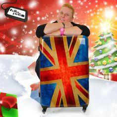 """Unsere Grafikerin Kerstin hat ihr perfektes Weihnachtsgeschenk schnell gefunden: Einen suitsuit """"Union Jack"""" Trolley. Warum? Weil mit diesem Eyecatcher das Urlaubsfeeling schon beim Packen beginnt."""