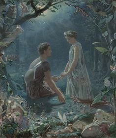 "John Simmons (1823-1876), ""Hermia and Lysander, a midsummer night's dream"" 
